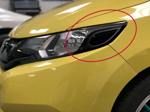 Headlight Amber Delete Smoke Tint Overlay | 2015-2019 Honda FIT