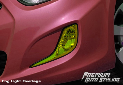 2011 - 2012 Hyundai Accent Yellow Tint Fog Light Vinyl Overlays