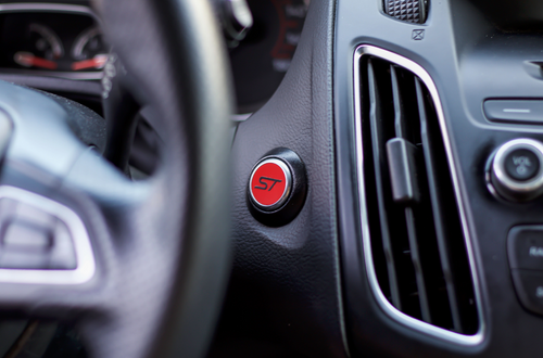 ST Start Button Overlay (Gloss Red/Gloss Black ST) | 2013-2019 Ford Focus ST