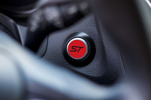 ST Start Button Overlay (Gloss Red/Gloss Black ST) | 2013-2019 Ford Focus ST