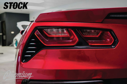Smoked Tail Light Overlays   2014-2018 Chevy Corvette