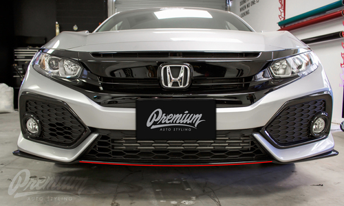 Front Bumper Pinstripe Kit (Choose Your Color) | 2016-2019 Honda Civic