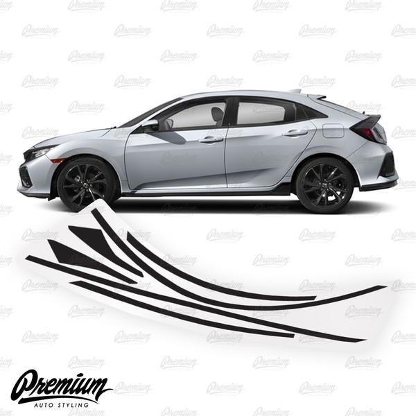 Glossy Carbon Fiber For 18-19 Honda Accord Sport Wheel Chrome Delete Vinyl Kit