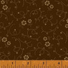 "BROWN AND TAN FLOWER DOT 108"" WIDE BACKING FABRIC"