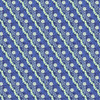 ANGLED BLUE, GREEN & WHITE FLORAL FABRIC