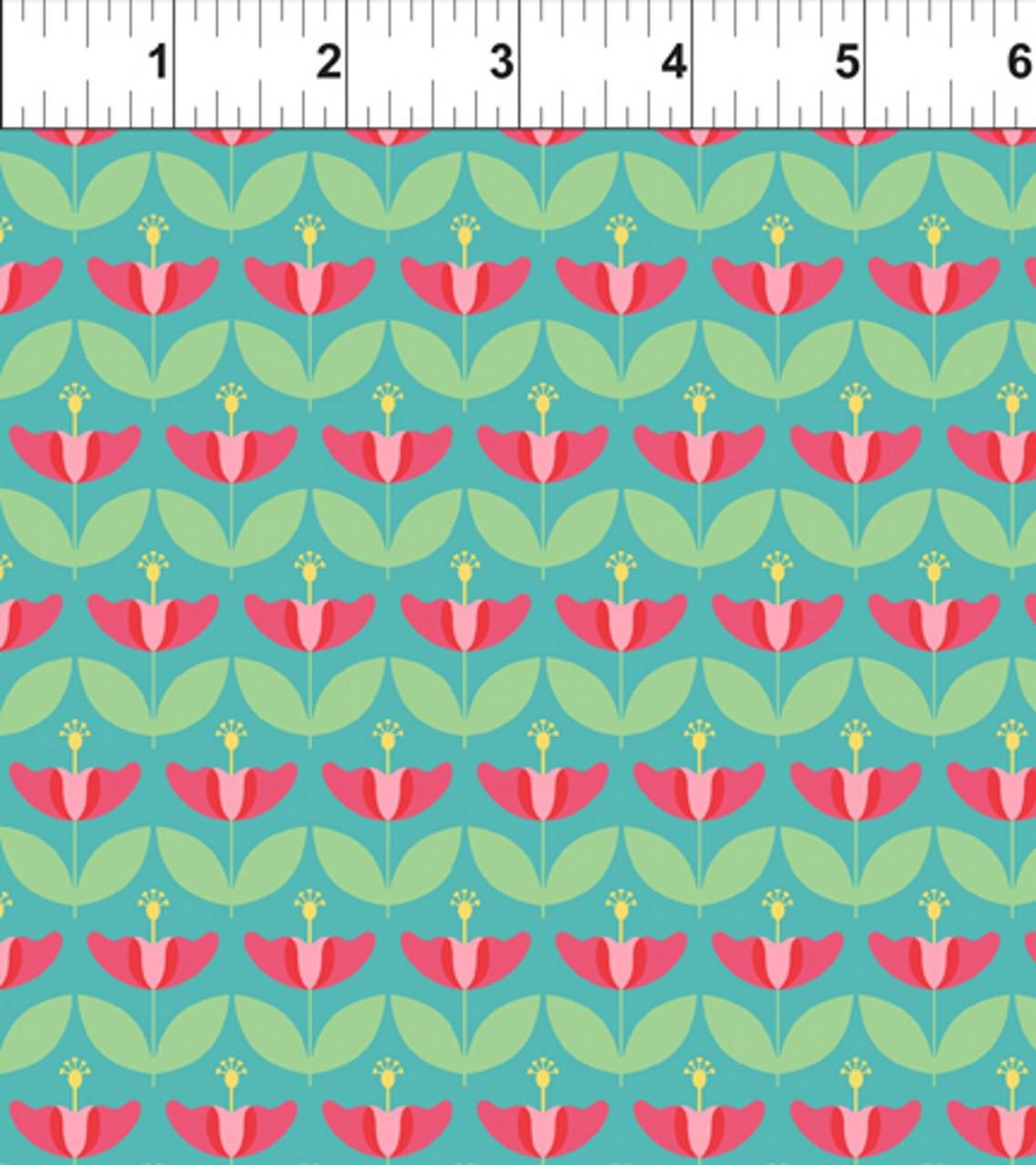 ART DECO HAWAII STATE FLOWER FABRIC   IBFDES11DSF1 HAWAII   Deco