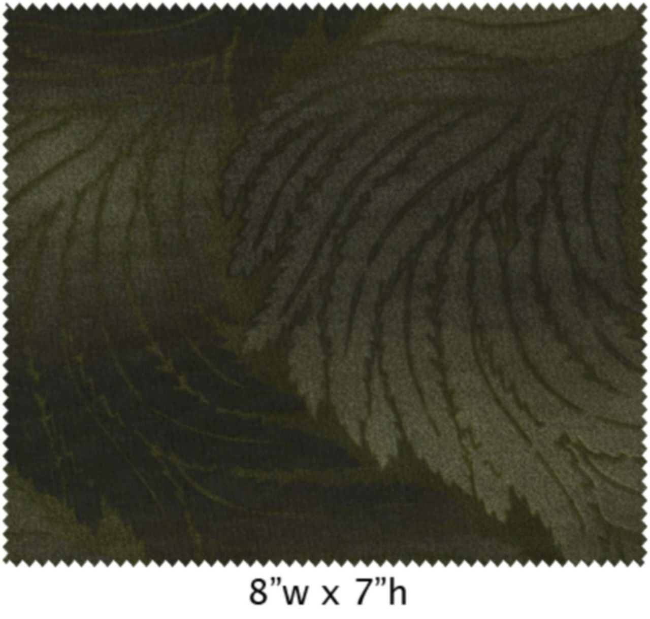 GREEN & GRAY ON GREEN LARGE FERN TYPE LEAVES - EESSER11069-801 - Serenity  Basics - Cara Collection