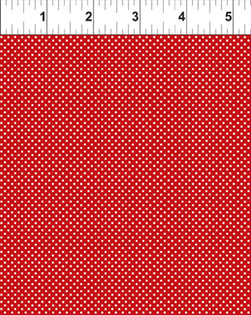 RED GARDEN DOTS FABRIC