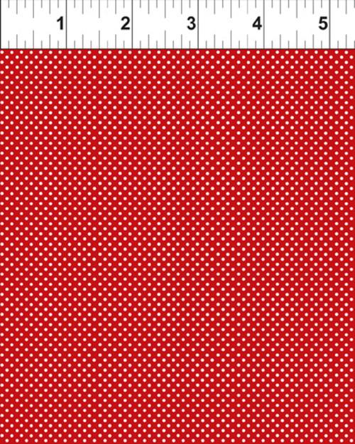 RED GARDEN DOTS FABRIC