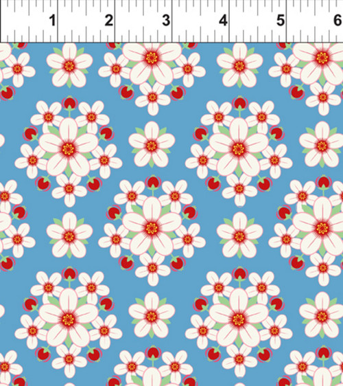 ART DECO ARKANSAS STATE FLOWER FABRIC