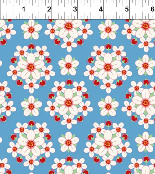 ART DECO ARKANSAS STATE FLOWER FABRIC