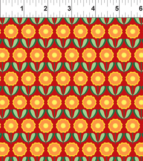 ART DECO CALIFORNIA STATE FLOWER FABRIC