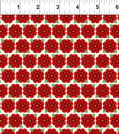 ART DECO ALABAMA STATE FLOWER FABRIC