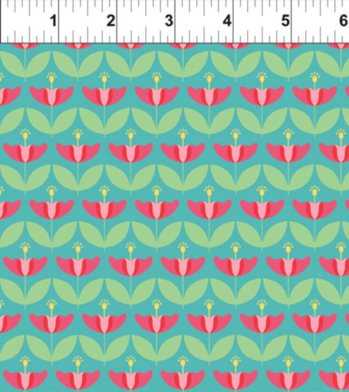 ART DECO HAWAII STATE FLOWER FABRIC
