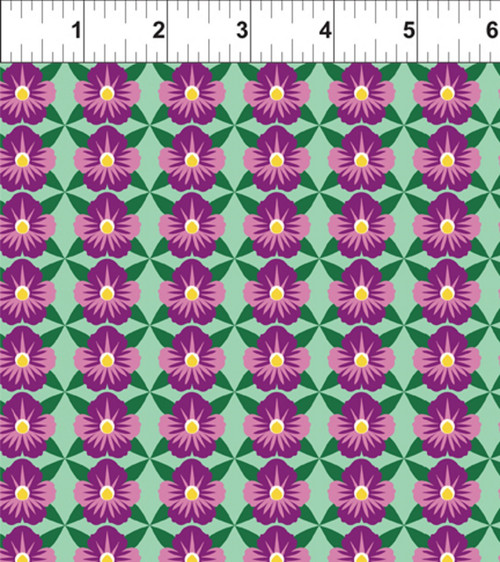ART DECO ILLINOIS STATE FLOWER FABRIC