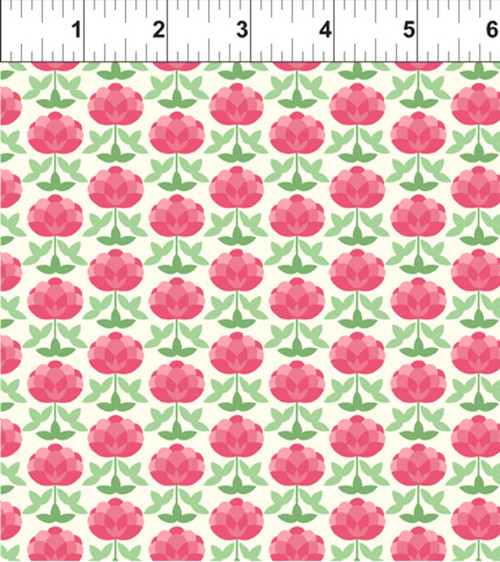 ART DECO INDIANA STATE FLOWER FABRIC