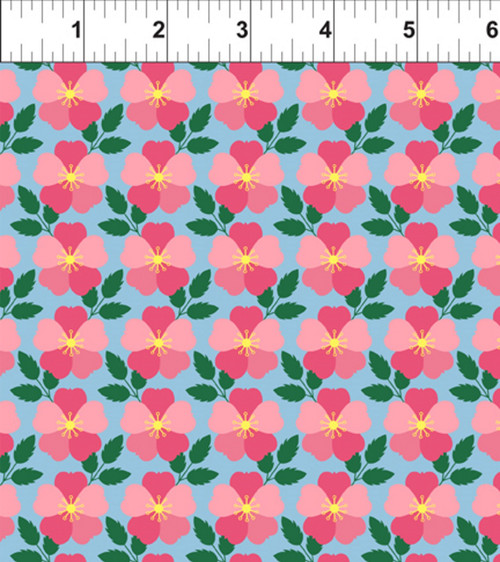 ART DECO IOWA STATE FLOWER FABRIC