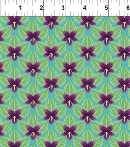 ART DECO NEW JERSEY STATE FLOWER FABRIC