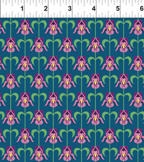 ART DECO TENNESSEE STATE FLOWER FABRIC