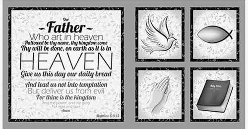 """OUR FATHER"" PANEL- The Lord's Prayer plus 4 smaller scenes"