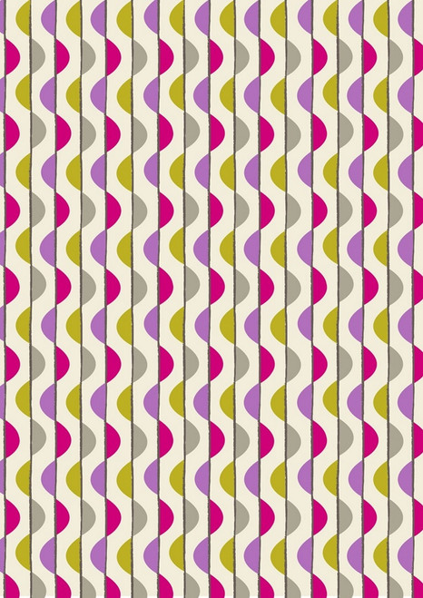 LAVENDER & GRAY AND MAROON & GOLD BUBBLE STRIPES FABRIC