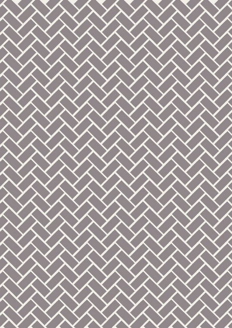 WHITE RECTANGLE/CHEVRON DESIGN ON GRAY FABRIC
