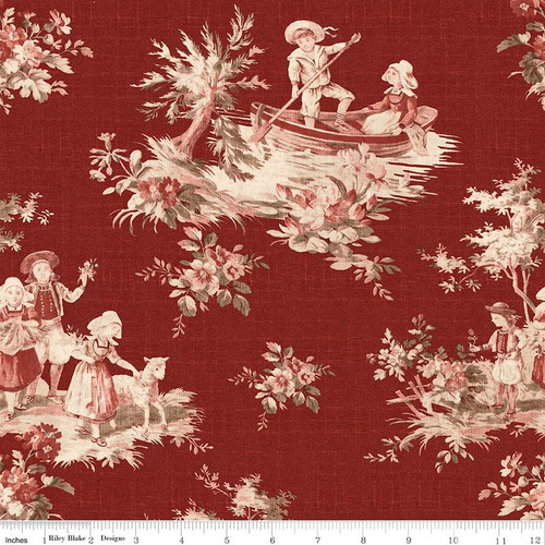 TOILE MAIN RED FABRIC
