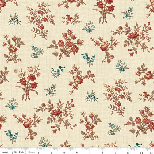 TOILE FLORAL CREAM FABRIC