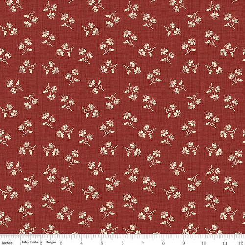 TOILE BLOSSOMS RED FABRIC