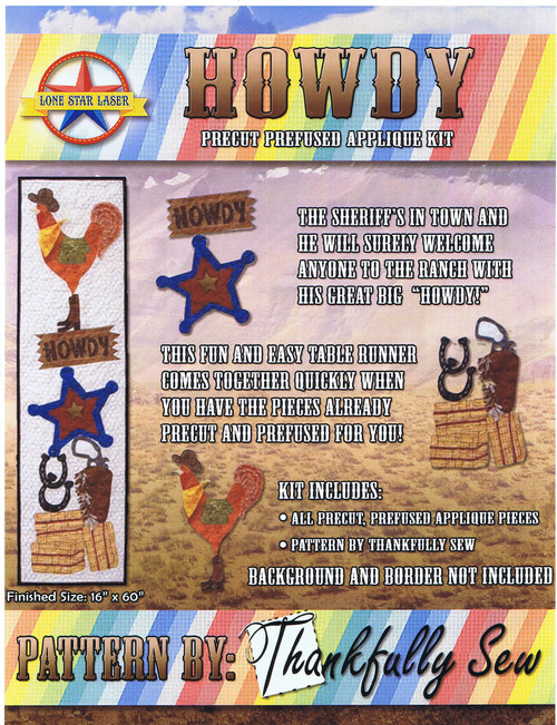 """Howdy - Finished Size 16"""" x 60"""" - Pattern by Thankfully Sew"""