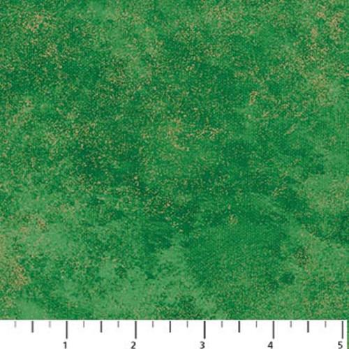 STONEHENGE BOTTLE GREEN MARBLE WITH GOLD METALLIC FABRIC