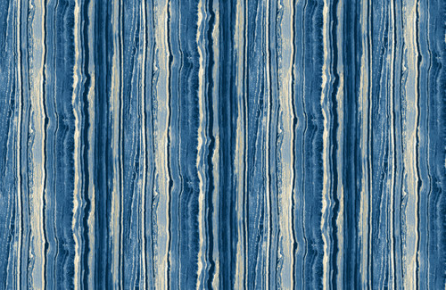 STONEHENGE BLUES AND WHITE MARBLED STRIPE FABRIC