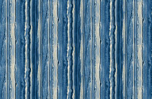 STONEHENGE BLUES AND WHITE MARBLED STRIPE FABRIC