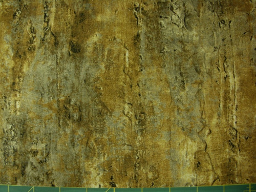 STONEHENGE GOLDEN BROWN, BLACK AND BEIGE MARBLE FABRIC