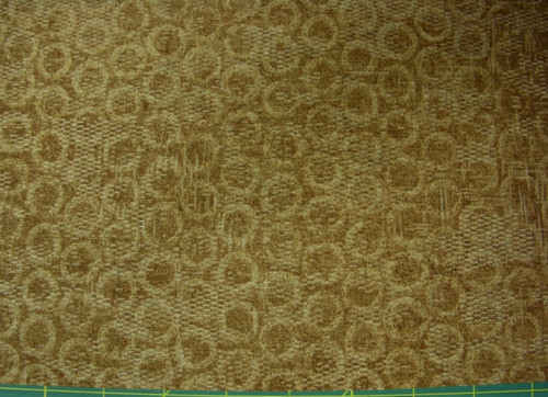 STONEHENGE BROWN TEXTURED-LOOK WITH TAN CIRCLES FABRIC