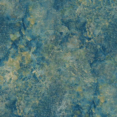 STONEHENGE BLUE, TAN AND WHITE CRACKLED MARBLE FABRIC