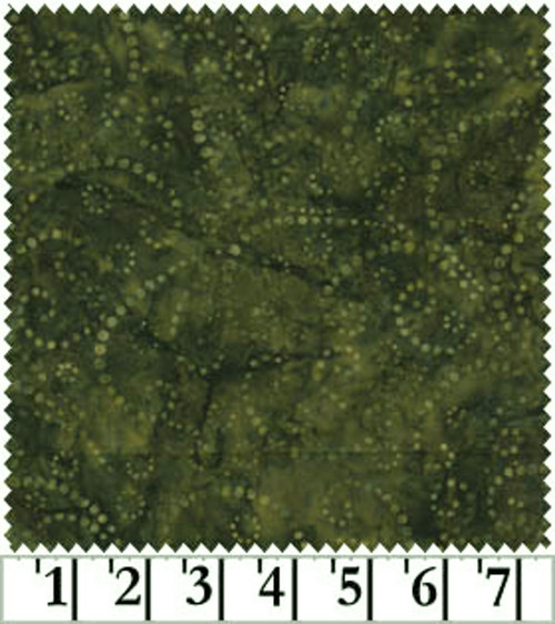 "TAN ON OLIVE GREEN 108"" WIDE JAVA BATIK BACKING-FWDJQB-0019"