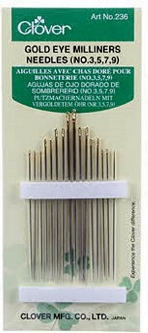 GOLD EYE MILLINERS NEEDLES Size 3/9 16ct
