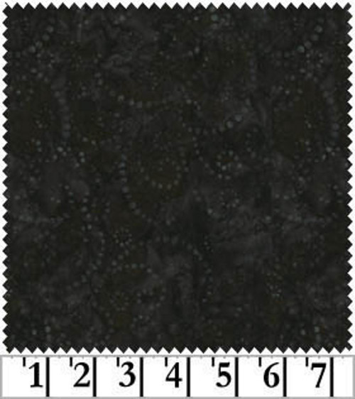"GRAY ON BLACK 108"" WIDE JAVA BATIK BACKING - FWDJQB-0022 - Fresh Water Designs"