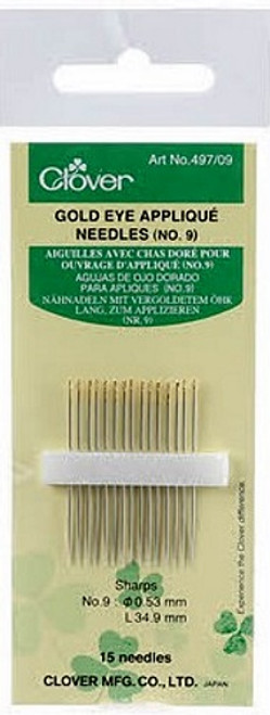 GOLD EYE APPLIQUE NEEDLES Size 9