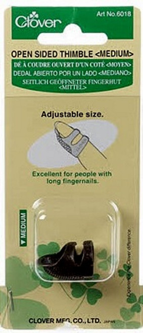 OPEN SIDED THIMBLE - MEDIUM - #6018