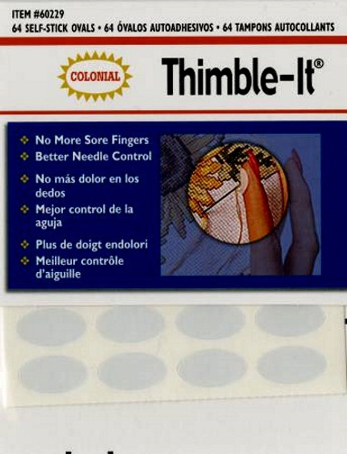 THIMBLE-IT SELF STICK OVALS - 64 ct. - #60229