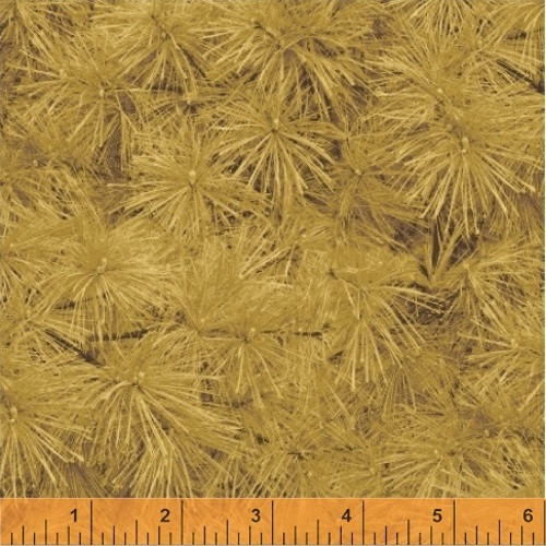 GOLDEN PINE NEEDLES FABRIC