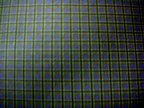 GREEN, BLUE AND BLACK PLAID FABRIC