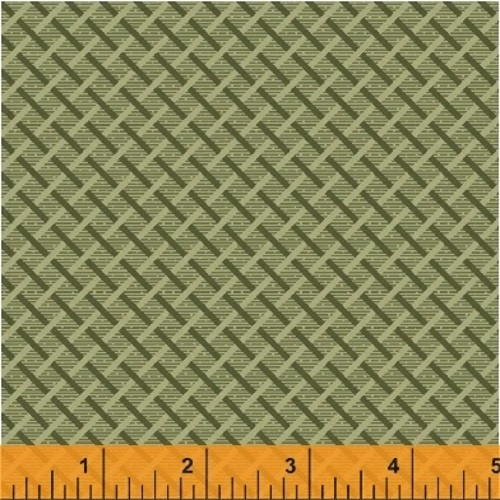 CELEDON GREEN BASKET WEAVE FABRIC - 41986-2