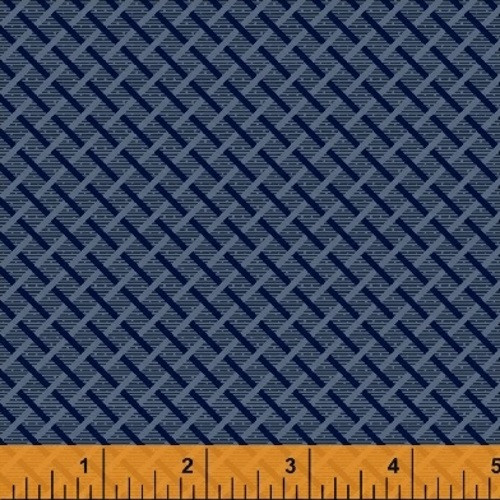 NAVY BLUE BASKET WEAVE FABRIC - 41986-1