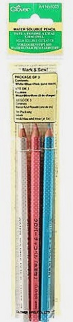 WATER SOLUBLE PENCIL - 3 COLOR ASSORTMENT
