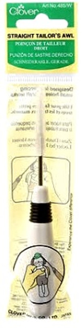 STRAIGHT TAILOR'S AWL-WHITE PLASTIC