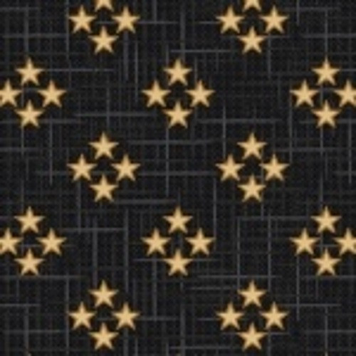 TAN FOUR STAR CLUSTERS ON BLACK FABRIC