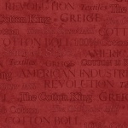 WORDS ON RED MARBLE FABRIC